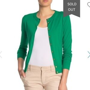 IN STOCK: NEW J Crew Soft Green/Gold Cardigan!